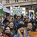 """Protesto akcija """"Lietuvos darbuotojui - europinį atlyginimą!"""""""