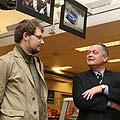 Parodos autorius Tomas Tumalovičius (kairėje)