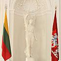 Laisvės statula Baltojoje salėje Prezidentūroje