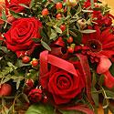 Gėlių puokštė vienoje iš Prezidentūros salių