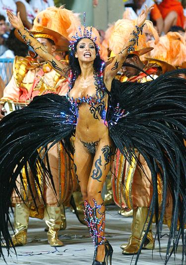 Karnavalo Rio de Žaneire dalyvė