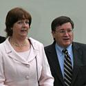 Johnas A. Claudas su žmona Mary