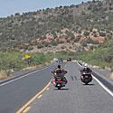 Kelias, motociklai, kalnai