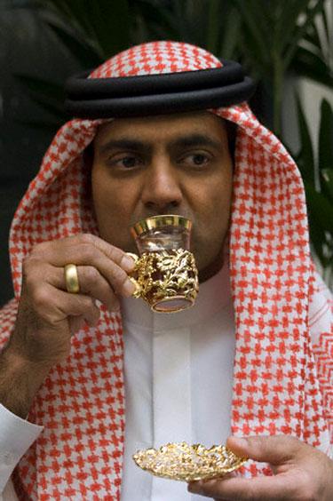 Arabas geria arbatą