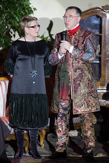 Vilija Šabunkaitė - Poškienė ir Rusijos dizaineris Viačeslavas Zaicevas