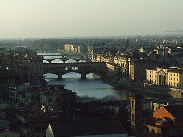 Florencijos panorama. Vaizdas iš Mikelandželo aikštės