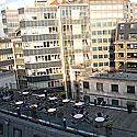 Vaizdas nuo Londono ekonomikos mokyklos (London School of Economics) stogo