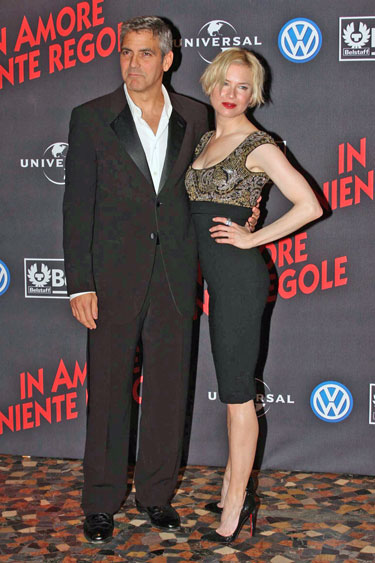 Renee Zellweger ir George Clooney