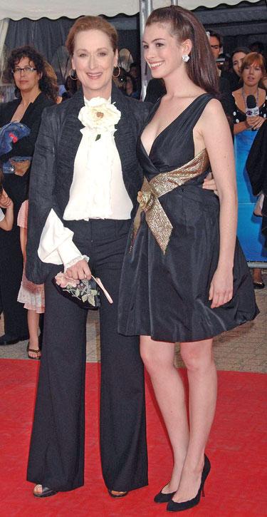 Anne Hathaway ir Meryl Streep