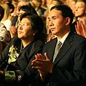 Kinijos ambasadorė Yang Xiuping su vyru