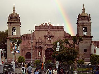 Peru, Ayacucho, centrinė aikštė