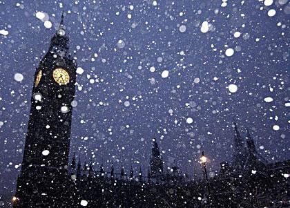 Заснеженный Лондон