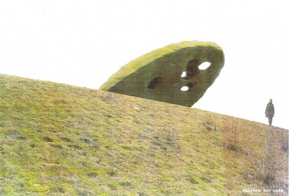 """R.Antinio skulptūros """"Puskalnis"""" vizualizacija"""