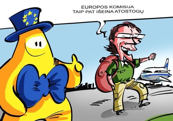 Rugpjūtį atostogauja ir Europos Komisija.