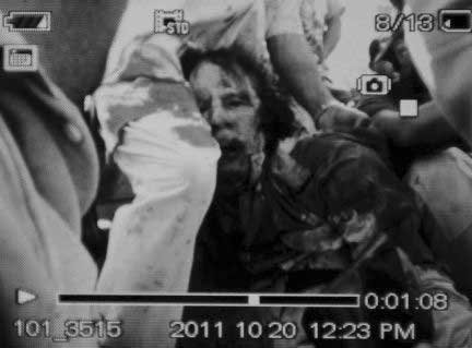 Paviešinta tariama sužeisto M.Gaddafi nuotrauka