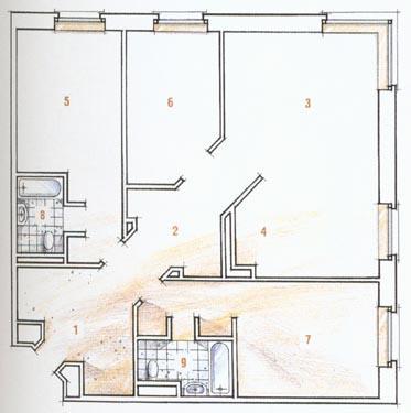 Išplanavimas prieš rekonstrukciją