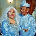 Malaizietis Kamarudinas Mohamadas ir jo žmona Khadijah Udin