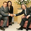 Arnoldas Schwarzenegeris ir Junichiro Koizumi