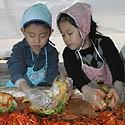 vaikai iš Pietų Korėjos