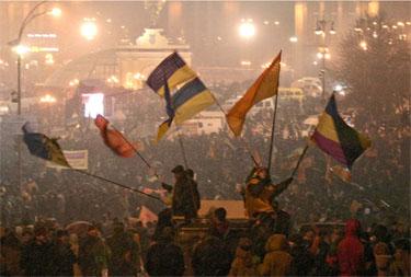 V.Juščenko šalininkai Ukrainoje
