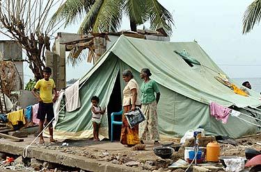 Po cunamio Šri Lankoje