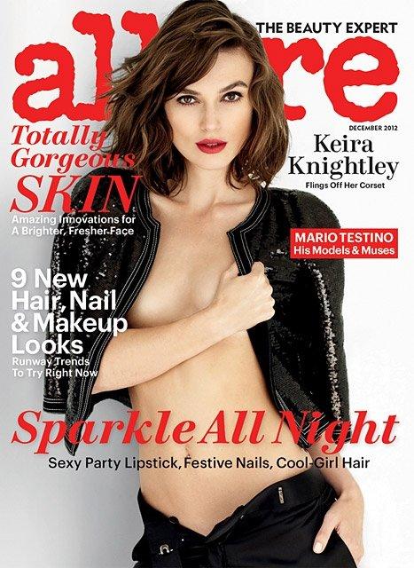 "Keira Knightley ant žurnalo ""Allure"" viršelio"