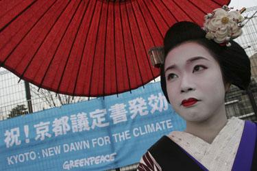 Kijote pozuoja japonė šokėja maiko.