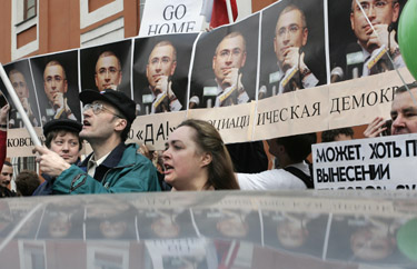 Mitingas M.Chodorkovskiui palaikyti