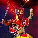 Folkloro artistai iš Butano.