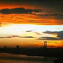 Saulėlydis Stambule.
