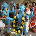 Deivės Durgos skulptūros