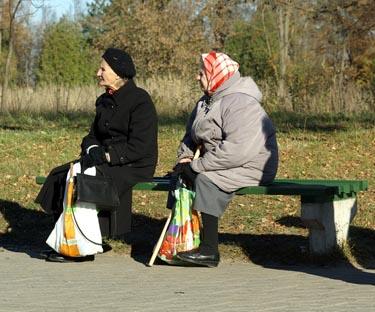Pensininkės, senatvė