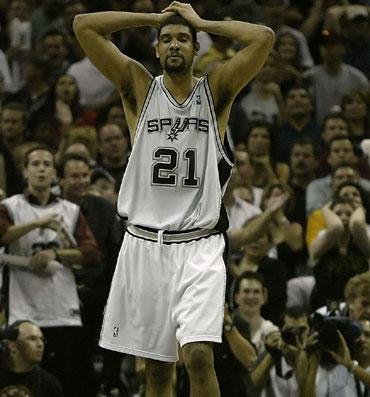 """Nusivylęs Timas Duncanas (""""Spurs"""")"""