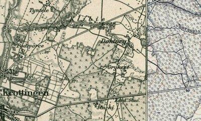 Grykšių kaimas 1915–1918 m. Kretingos ir Kartenos apylinkių žemėlapiuose, parengtuose Prūsijos karališkosios kartografijos tarnybos topografų// Lietuvos valstybės archyvas