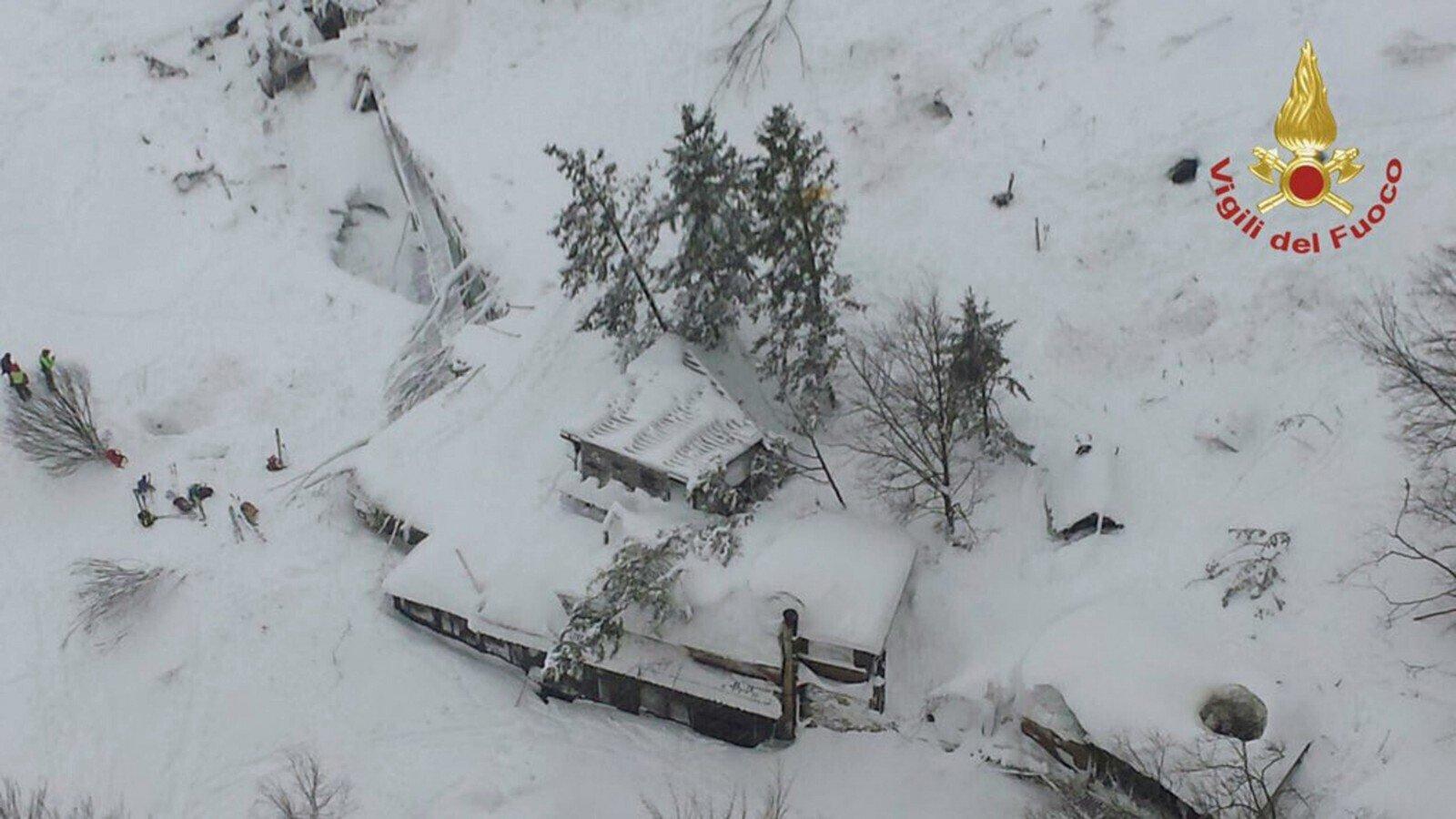ВИталии наотель сошла снежная лавина: есть жертвы