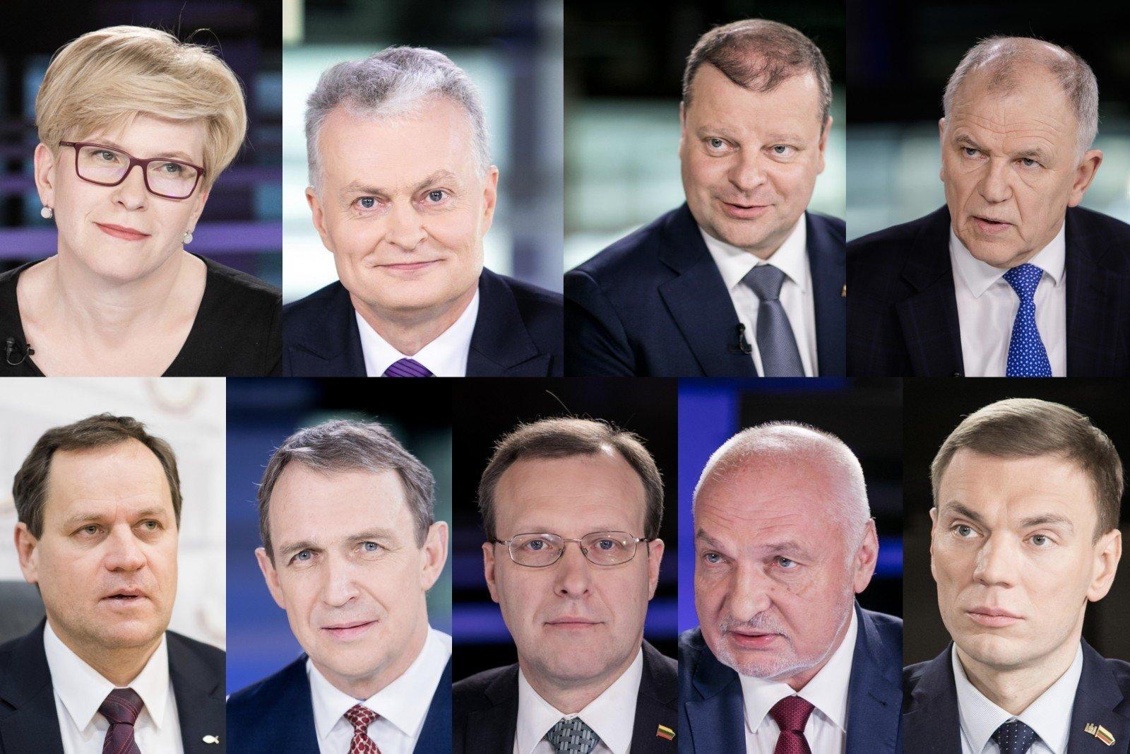 """Vaizdo rezultatas pagal užklausą """"kandidatai i prezidentus"""""""