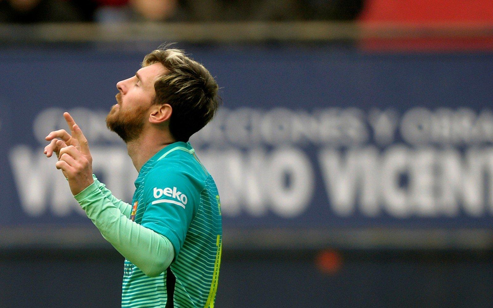 Лионель Месси провел 550-й матч за Барселону
