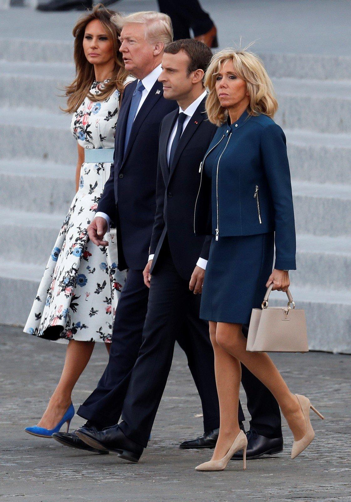 Brigitte Macron ir Melania Trump: skirtingi požiūriai į ...