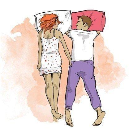 фото двое в постеле
