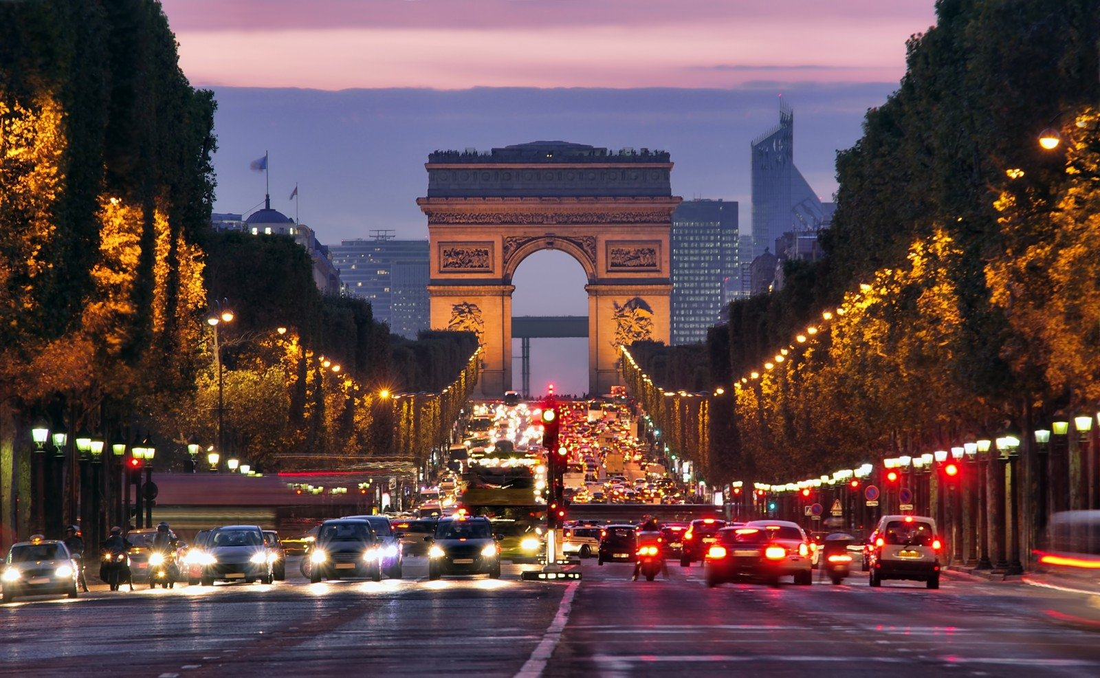 Елисейские Поля Париж центр магистраль бесплатно