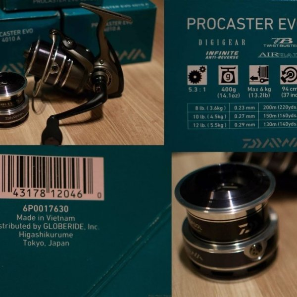 "Ritė ""Daiwa Procaster EVO 4010A"""