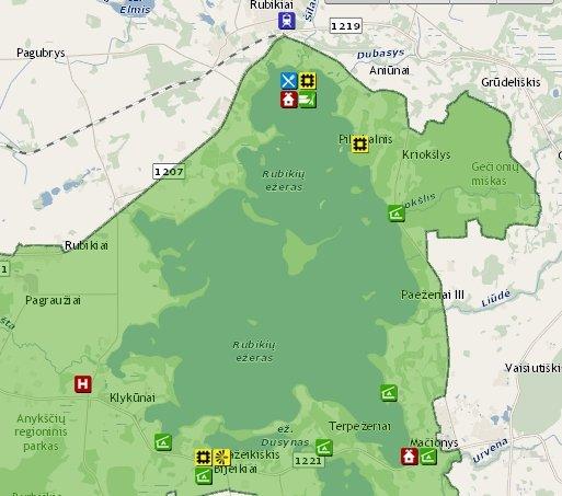 Rubikių ežeras kviečia atvykti net į 9 poilsiavietes