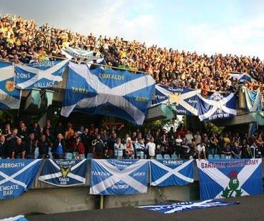 Škotijos futbolo sirgaliai S. Dariaus ir S. Girėno stadione