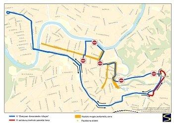 Trasa autobusu nr 11 na Kaziuka 2013