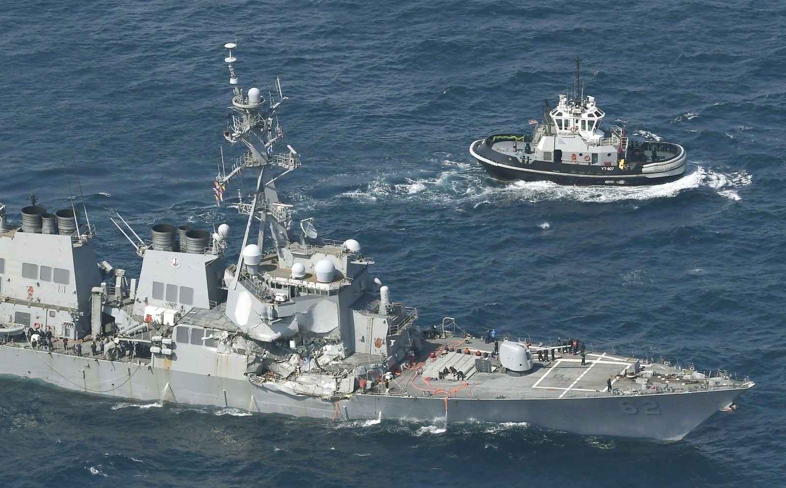 Тела 7-ми пропавших моряков отыскали наэсминце флота США