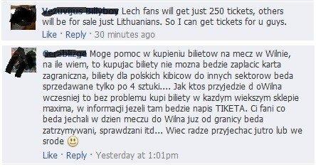 """Vilniečiai """"Lech"""" fanams pasiūlymus teikia anglų ir lenkų kalbomis"""