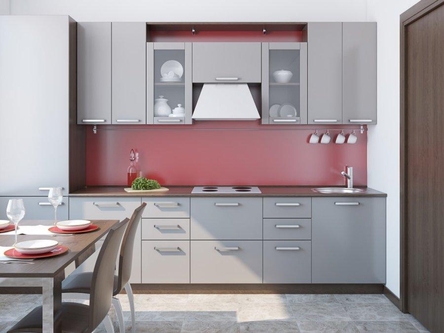 Kod l yra prakti ki l formos ir tiesin s virtuv s for Straight line kitchen designs